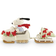 Snowmobiling with SNOOPY Figurine by Lenox