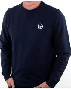 7ecb806d66bf Sergio Tacchini Logo Sweatshirt Navy white Football Casuals