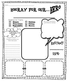 Biography notebooking pages. | - print it - | Pinterest ...