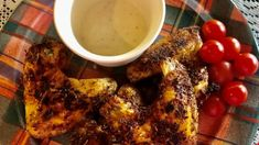 Low-carb and prepared in an air fryer, these herb-seasoned chicken wings make a delicious appetizer or main dish.