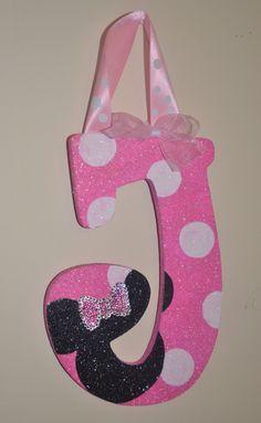 GLITTER Pink/White Polka Dot Minnie Mouse Inspired by Sastara