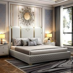 Modern Luxury Bedroom, Master Bedroom Interior, Bedroom Bed Design, Bedroom Furniture Design, Modern Bedroom Design, Home Room Design, Bed Furniture, Luxurious Bedrooms, Bedroom Small