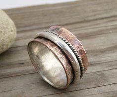 Copper spinner ring by LjBjewelry