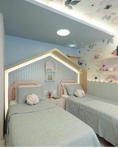 Bedroom Color Schemes, Bedroom Colors, Bedroom Decor, Monochrome Bedroom, Casa Clean, Girls Bedroom, Interior Inspiration, Kids Room, Toddler Bed
