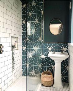 "Bathrooms of Instagram on Instagram: ""🌟Starry Nights. Starry Bathroom✨  By @ck_homestyle"" Bathroom Tile Designs, Bathroom Interior Design, Bathroom Ideas, Loft Bathroom, Shower Bathroom, Family Bathroom, Bathroom Layout, White Bathroom, Bathroom Organization"