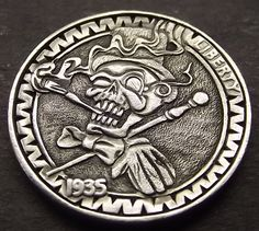Carved by Shane Hunter  www.Shaneshobonickels.com  #HoboNickel #Carved #Coin