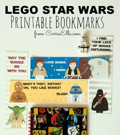 Fun and Easy Lego Star Wars Printables | Lego Star Wars Printable Bookmarks by DIY Ready at http://diyready.com/11-diy-lego-star-wars-ideas/