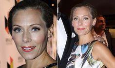 Eva Röse wearing Triangle silver earrings