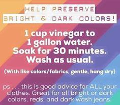 Vinegar soak instructions