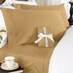 8PC ITALIAN 1000TC Egyptian Cotton GOOSE DOWN COMFORTER Bed in a Bag – Sheet , Duvet King Brown by Egyptian Cotton Factory Outlet Store. $249.99. Luxury 1000TC 100% Goose Down Comforter, 750fp, 50oz, Allergy free.. Beautiful Duvet Set : 1 Duvet Cover (106″ x 90″) and 2 Shams (20″ x 40″). 1 Flat Sheet (108″ x 102″), 1 Fitted Sheet (78″ x 80″) and 2 King Pillow Cases (20″ x 40″). ITALIAN 1000TC long-staple Egyptian Cotton Sheet and Duvet Set. This 8pc luxury beddin…
