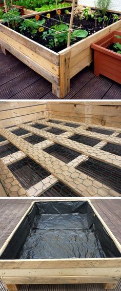 A DIY Planter Box from Pallets, how cool! These are   great budget friendly garden Ideas.