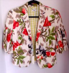 Paul Smith (Blue) Floral Fitted Jacket, Italian, Size 42