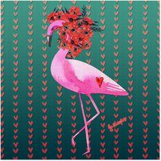 Adesivo Dona Flamingo de @jurumple | Colab55
