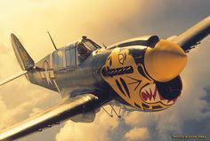 Beautiful P-40, not an outstanding aircraft but till filled in while American developed