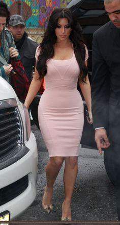 pink dress kim kardashian