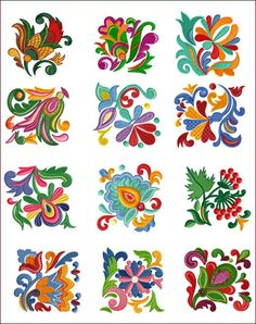 Folk Embroidery Folk Quilt Blocks 12 Machine Embroidery Designs for hoop - Cat Embroidery, Mexican Embroidery, Embroidery Alphabet, Hungarian Embroidery, Learn Embroidery, Machine Embroidery Designs, Embroidery Stitches, Embroidery Patterns, Ribbon Embroidery