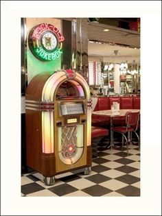 jukebox. (So cool, on their way out when I was a kid. Lucky to come across one a few times. :)