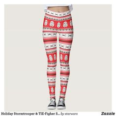 Holiday Stormtrooper & TIE-Figher Stitched Pattern Leggings Ugly Sweater Party, Ugly Christmas Sweater, Chancellor Palpatine, Star Wars Store, Star Wars Christmas, Star Wars Merchandise, Pattern Leggings, Tie Fighter