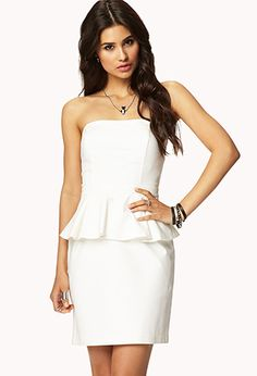 Strapless Peplum Dress | FOREVER21 - 2046935524