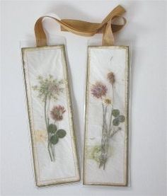 How to make book marks out of pressed flowers. Spring flowers will see the inside of my books this summer.