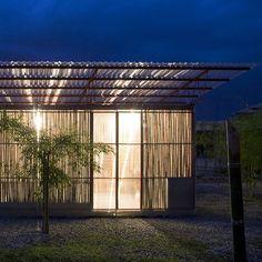 Dezeen's top Ten Bamboo structures.  dezeen_Low Cost House by Vo Trong Nghia