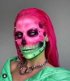 Horror Makeup, Scary Makeup, Cute Makeup, Pretty Makeup, Mask Makeup, Fx Makeup, Makeup Brushes, Halloween Skeleton Makeup, Amazing Halloween Makeup