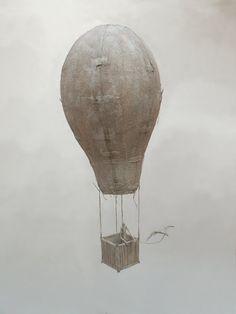 Antoine Jossé 1970 ~ Surrealist sculptor and painter Balloon Crafts, Vitrine Miniature, Air Ballon, Creative Pictures, Assemblage Art, Paper Clay, Art Object, Art Boards, Art Projects