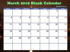 Choose the March 2019 Blank Calendar Template you like. There are many calendar templates that we created for you. Cute Calendar, 2019 Calendar, Blank Calendar Template, Calendar Printable, March, Printables, Print Templates, Mac