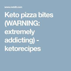 Keto pizza bites (WARNING: extremely addicting) - ketorecipes