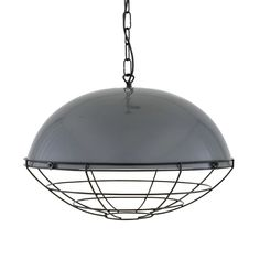 Austin Large Factory Cage Pendant Light 53cm | Mullan Lighting