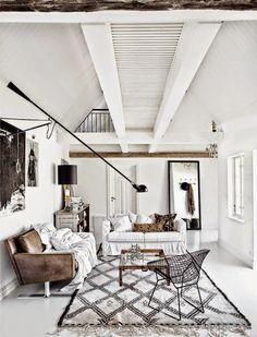 SCANDIMAGDECO Le Blog: Intérieurs scandinaves et tapis Berbères - Scandinavian interior with Berber rugs