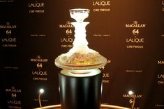 "The Macallan (served at Montage Beverly Hills' £ 10 bar) and Lalique (a Rodeo Drive store) partnered to produce this one-of-a-kind decanter, made using the ancient cire perdue (""lost wax"") method. Created in conjunction with the 150th anniversary of René Lalique's birth, this decanter holds the oldest and rarest Macallan ever bottled."