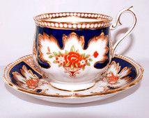Royal Albert Royalty Gilded Imari Demitasse Coffee Cup & Saucer English Fine Bone China