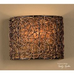 uttermost knotted rattan, 1 lt wall sconce 22466.... — | Wicker Furniture Blog www.wickerparadise.com