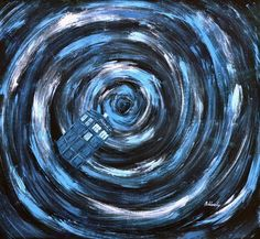 'Tardis flying through the Time Vortex' painting, I need this!!!