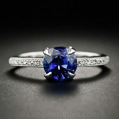 Another simple and elegant blue sapphire ring that I love!