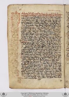 Vatican 103 is a unique manuscript dated to 861 A.D. containing a complete biblical commentary know as the Severus Catena. Pictured here is the opening of the commentary on Job attributed to Ephrem. Note the efficient serto script, with some estrangelo features. Note also the marginal comments, which are incorporated into the main text in later witnesses.