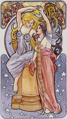 XVII - L'étoile - Tarot art nouveau par Antonella Castelli