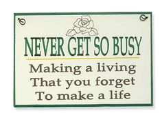 wood signs with sayings | ... BUSY Painted Wood Sign - Saying Signs - Signs & Ornaments - Home Decor