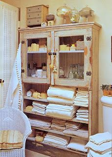 Fauna decorativa: Muebles antiguos para el baño / Old furniture for the bathroom