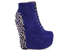 the damsel spikes in cobalt blue