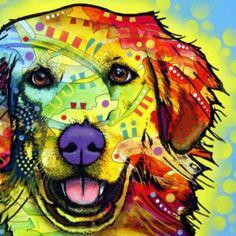 Golden retriever dog illustration #dog #art