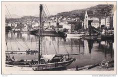 Corse, port de Bastia - Arrière d'une goélette