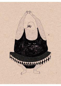 Anna Maria Lubinska - Hairy Athletes Series - Ballet - L'Affiche Moderne