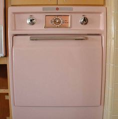 The oven, in pink, of course.