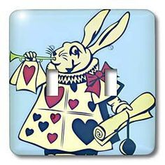 Magical Rabbit - Fun and Whimsical Art - Alice in Wonderland - Light Switch Covers - double toggle switch by Patricia Sanders, http://www.amazon.com/gp/product/B008FCAILQ/ref=cm_sw_r_pi_alp_lmbzqb03FNK4Z