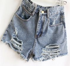 Blue Ripped Fringe Denim Pant - abaday.com
