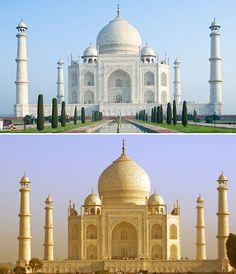'누렇게 뜬' 인도 타지마할..가장 아름다운 무덤의 위기 | Daum 미디어다음