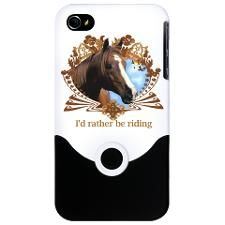 I'd Rather Be Riding Horse iPhone Case