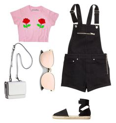 Sweet and Casual Outfit by jenimarrivera on Polyvore featuring polyvore, fashion, style, MANGO, Kendall + Kylie, H&M and clothing